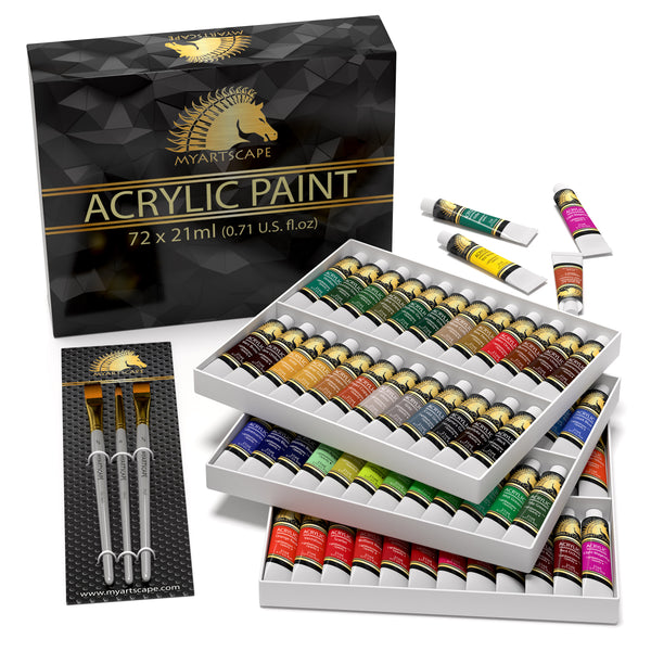 Acrylic Paint Set - 72 x 21ml Artist Quality Paints