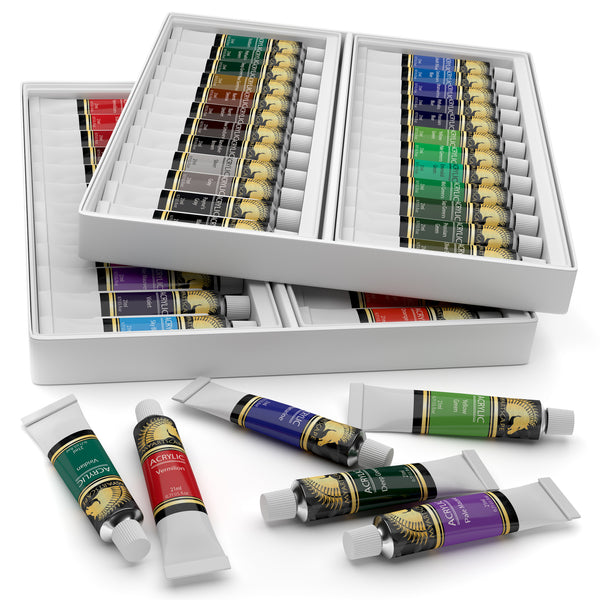 Acrylic Paint Set - 48 x 21ml Artist Quality Paints