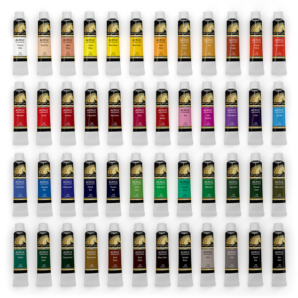 Acrylic Paint Set - 48 x 12ml Artist Quality Paints
