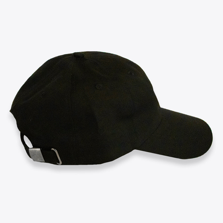 Embroidered Low HP dad hat -Black