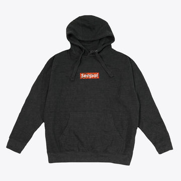 Senpai Embroidered Box Logo Hoodie Charcoal