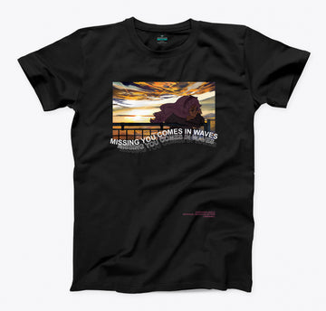 [AM] Missing You Comes in Waves Sunset Tshirt
