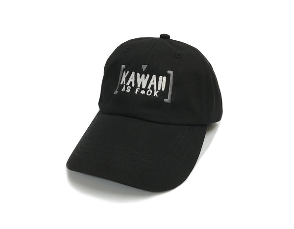 Kawaii As F*ck Dad Hat Monochrome (Black)
