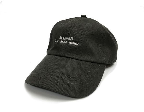 Kawaii But Dead Inside Dark Charcoal Dad Hat