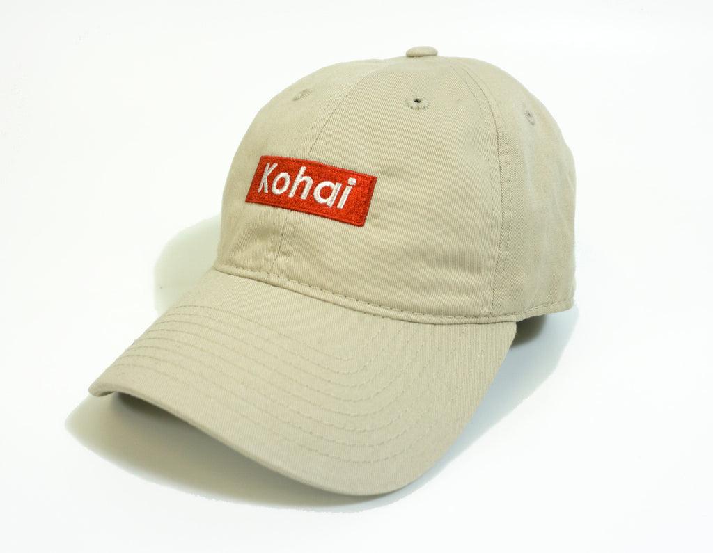 Kohai Box Logo Dad Hat -Tan