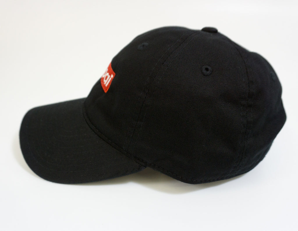 Senpai Box Logo Dad Hat -Black