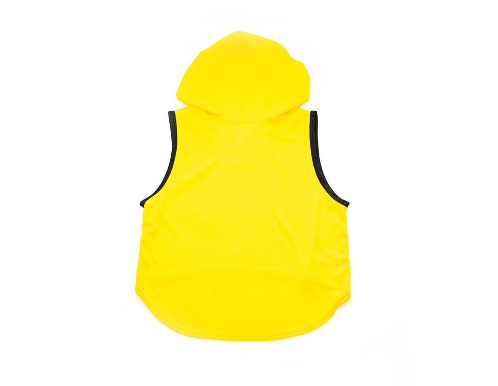 Yellow Waifu Crop Top Hoodie -Pro Mesh-