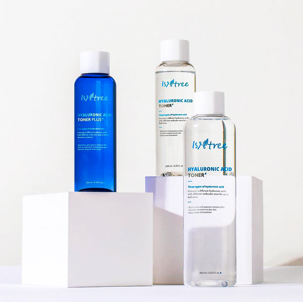 Isntree Hyaluronic Acid Toner and Hyaluronic Acid Toner Plus