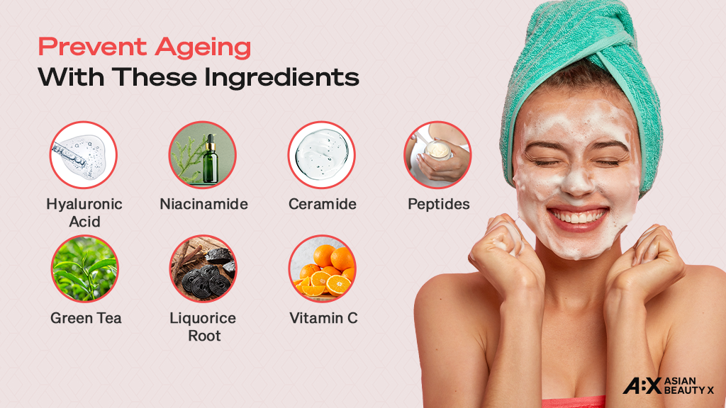 Skincare Ingredients for preventing ageing