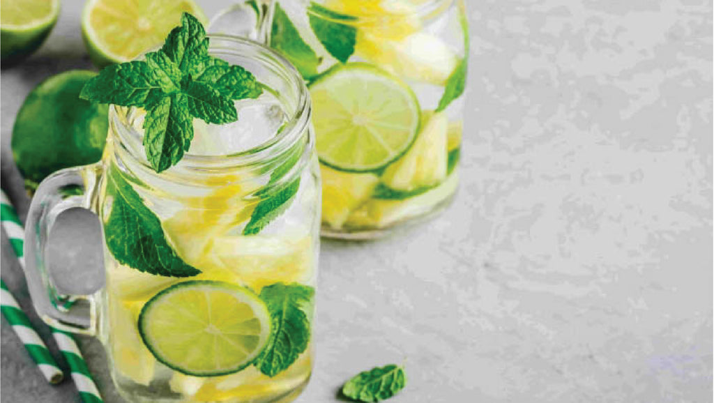 dull skin lime pineapple infused water
