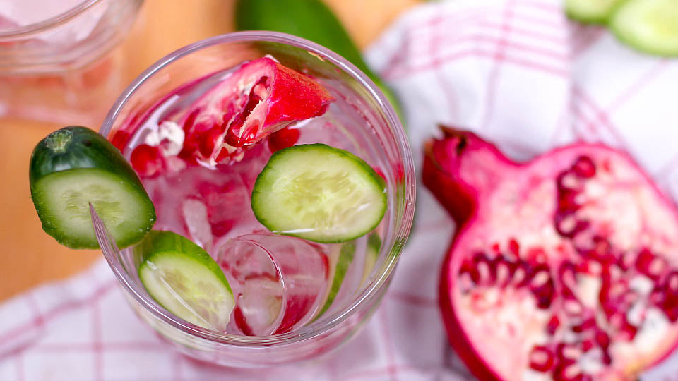 combination skin cucumber pomegranate infused water