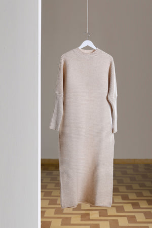 Beige Maxi Knitted Dress