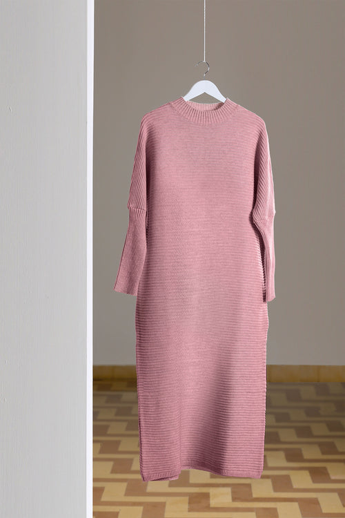 Pink Maxi Knitted Dress