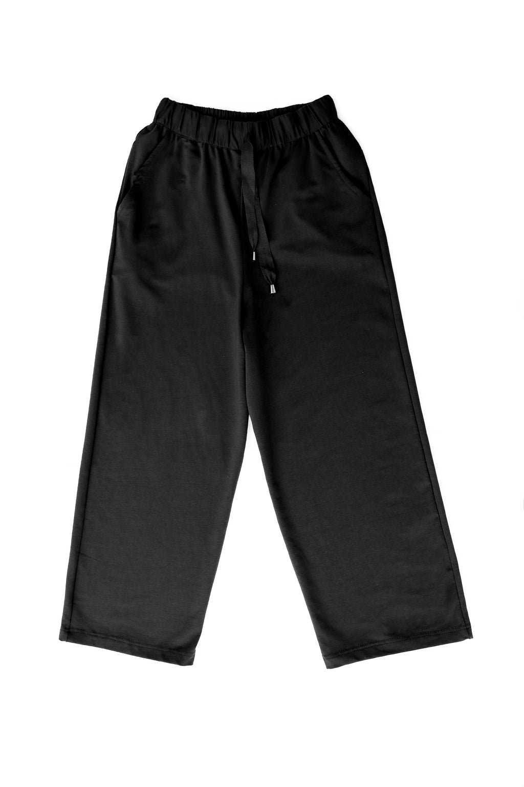 Wide Sweatpants in Black