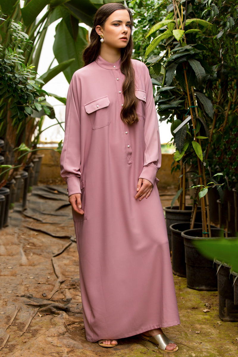 Nude Jenna Oversized Maxi Shirtdress