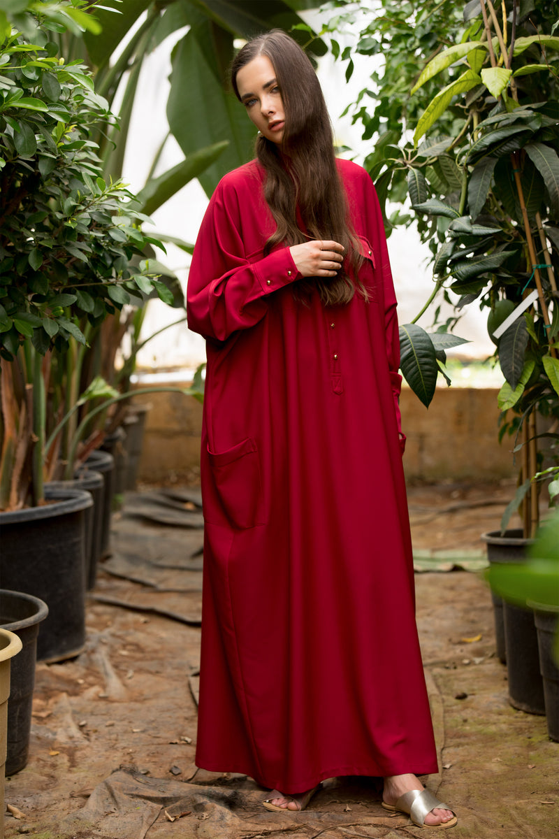 Scarlet Jenna Oversized Maxi Shirtdress