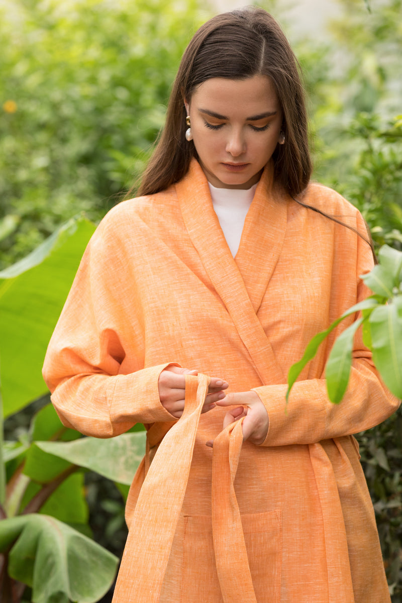 Short Orange Ray Cardigan