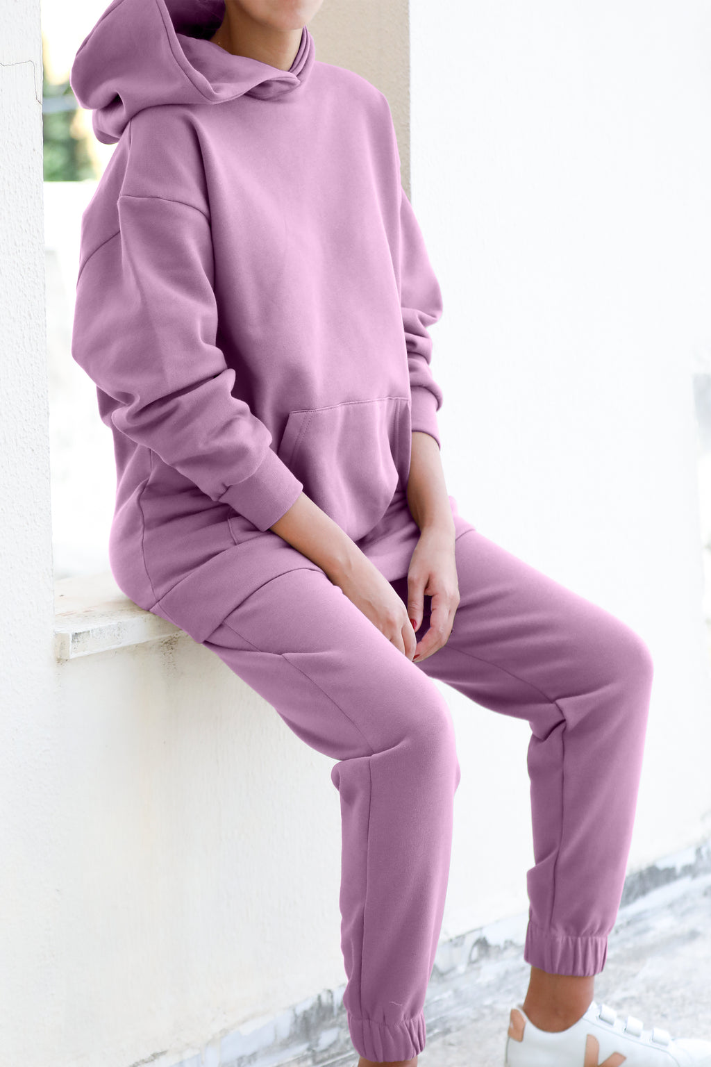 Basic Hoodie Sweat Coord - Orchid