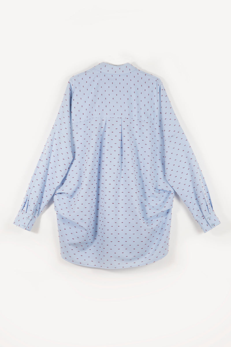 Balloon Shirt - Blue Pattern