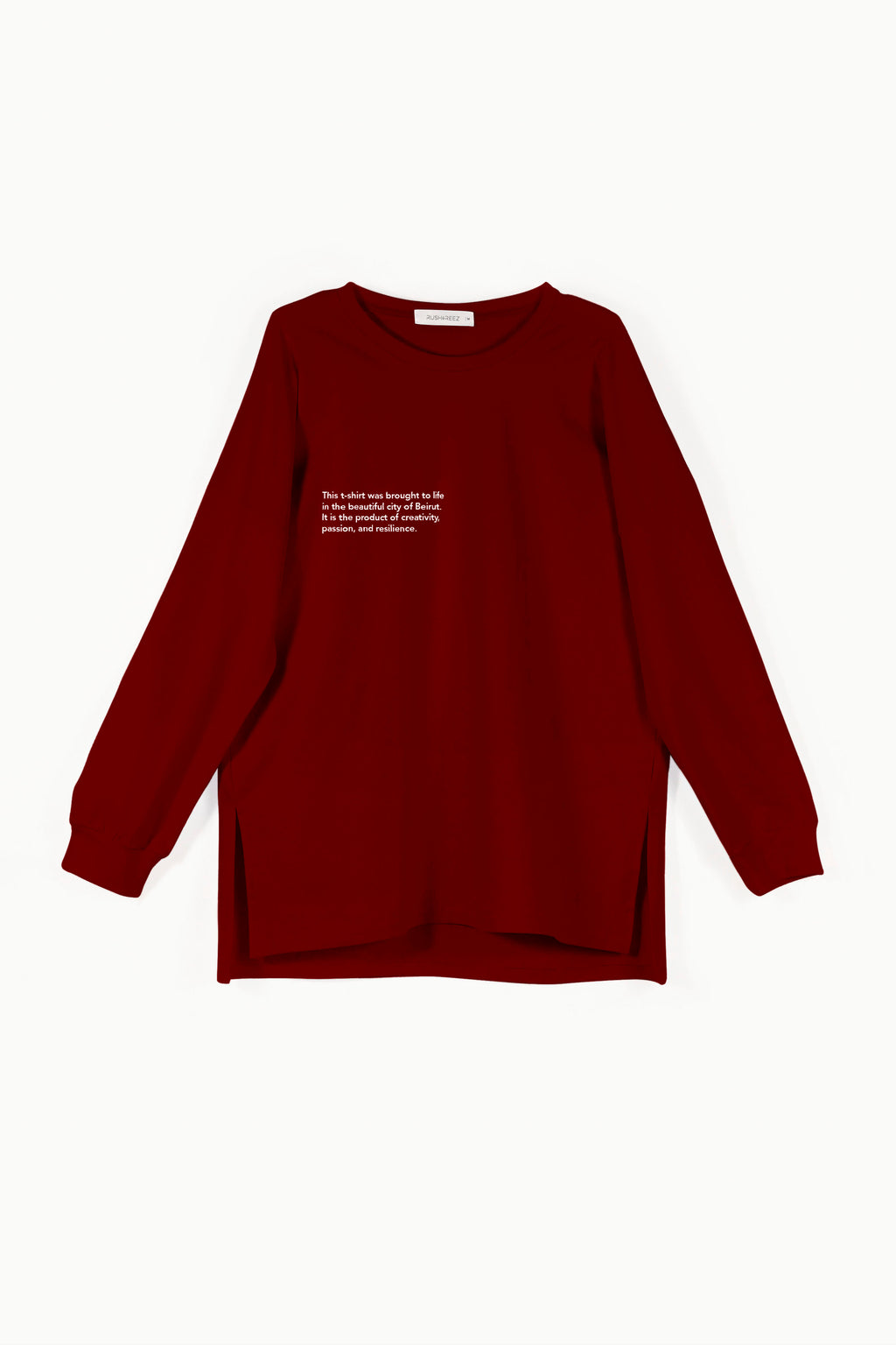 Longsleeve Statement Tshirt - Oxblood