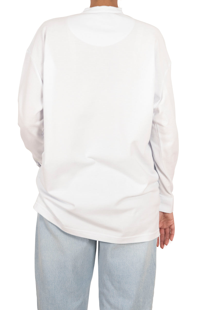 Oversized Polo Shirt - White