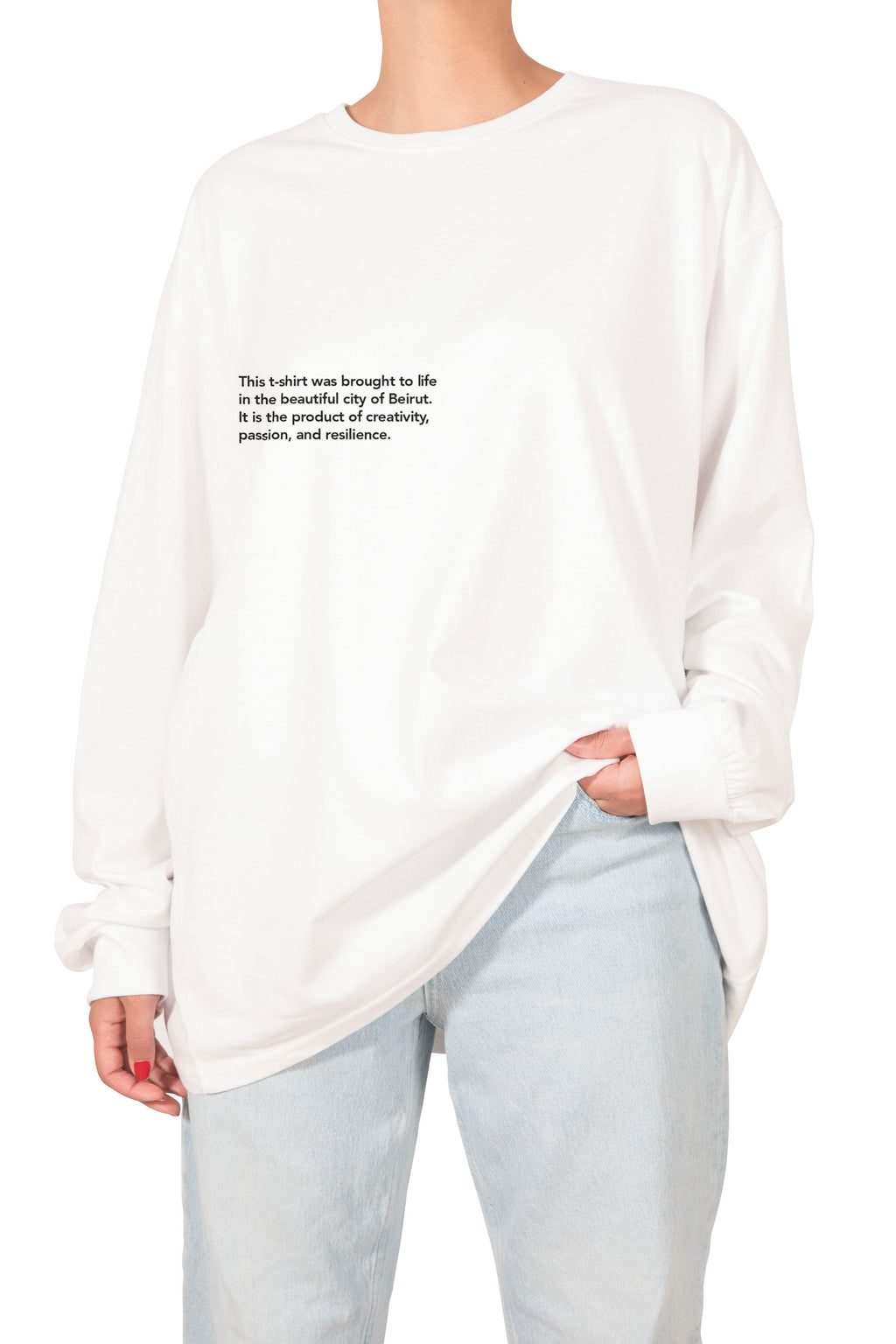 Longsleeve Statement Tshirt - White