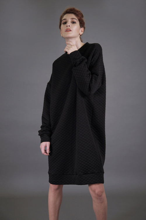Oversized Quilted Sweatdress