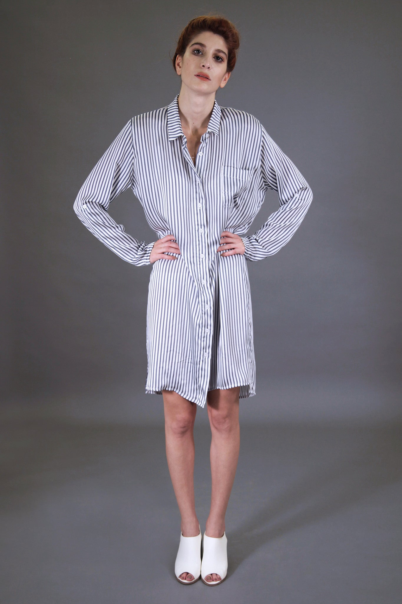 Striped Blue Shirtdress