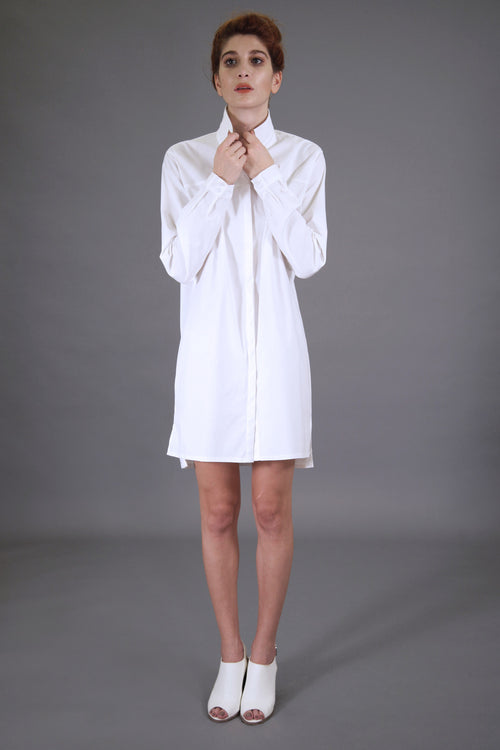 Basic White Shirtdress