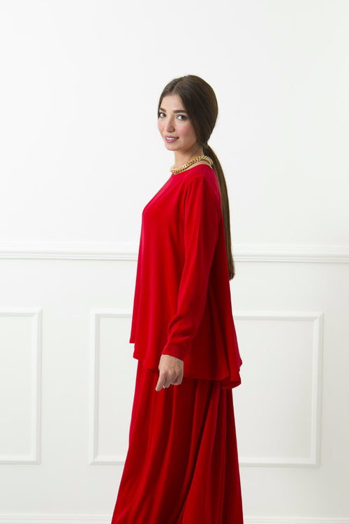 Red May Top