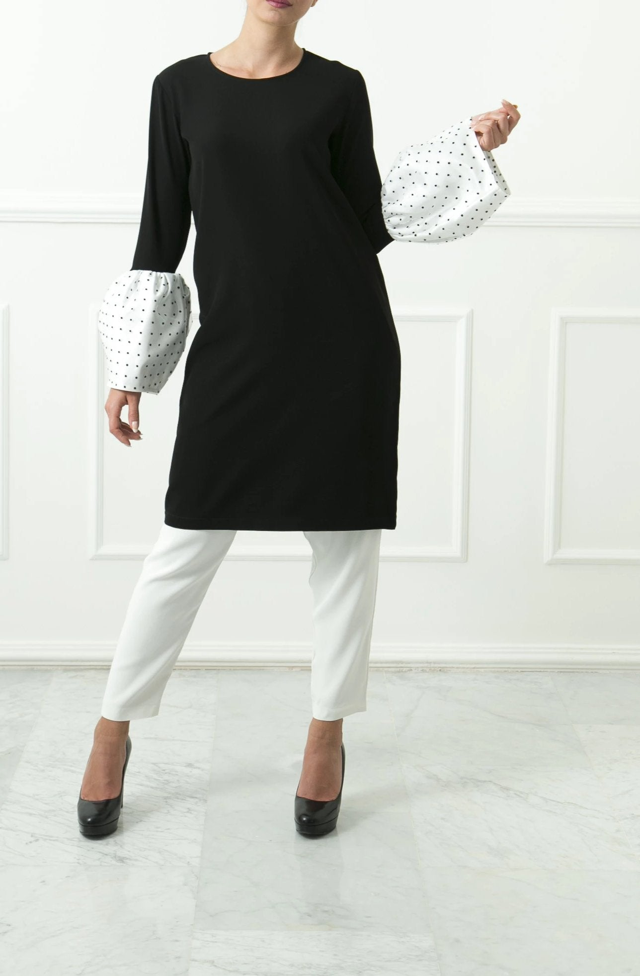 Black Belle Sleeve Dress
