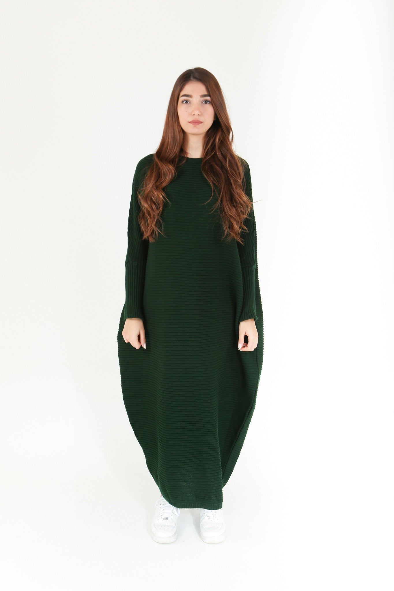 162f8b7e992 Emerald Maxi Knitted Dress – RUSH   REEZ