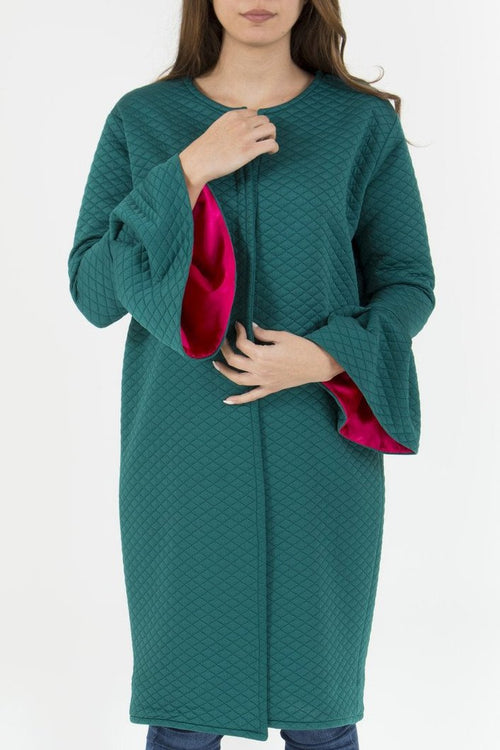 Emerald Bell Sleeve Coat