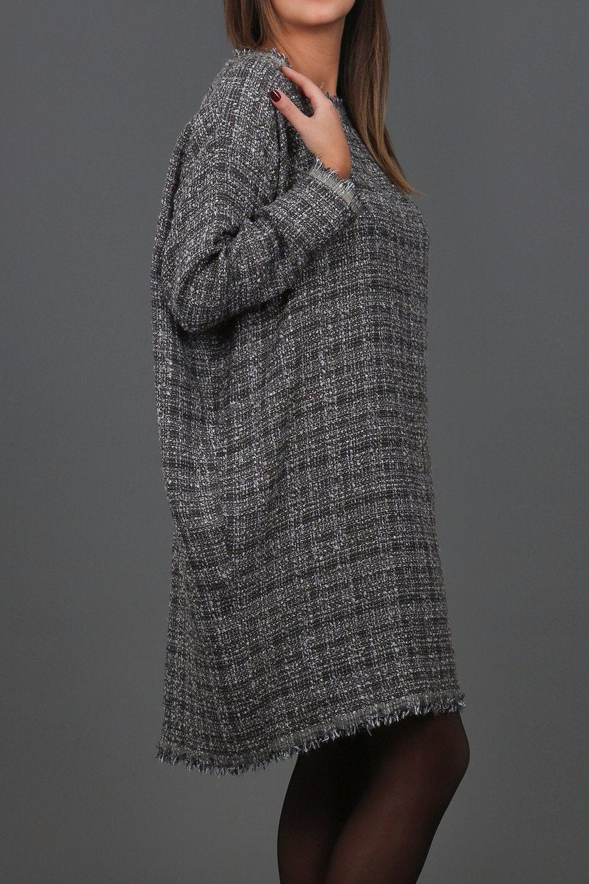 Maggy Bouclé Sweater Dress