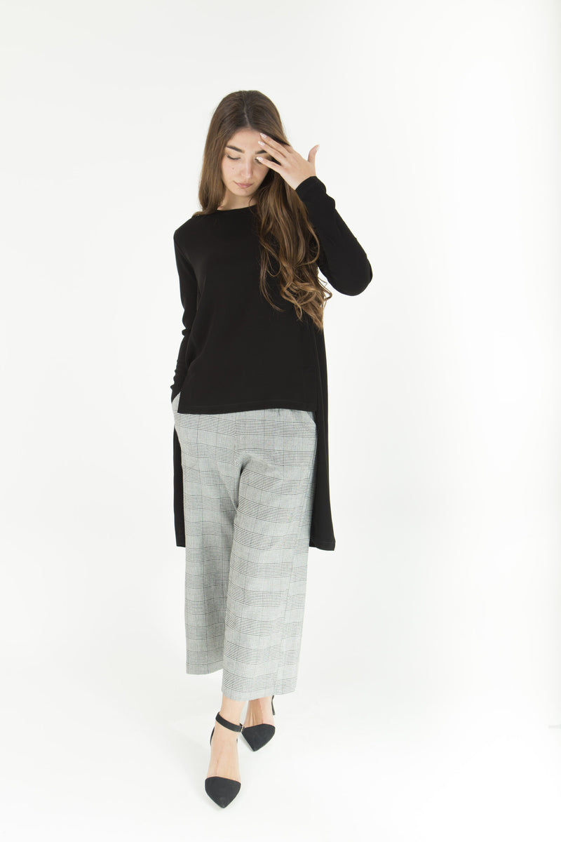 Black & White Culotte Pants