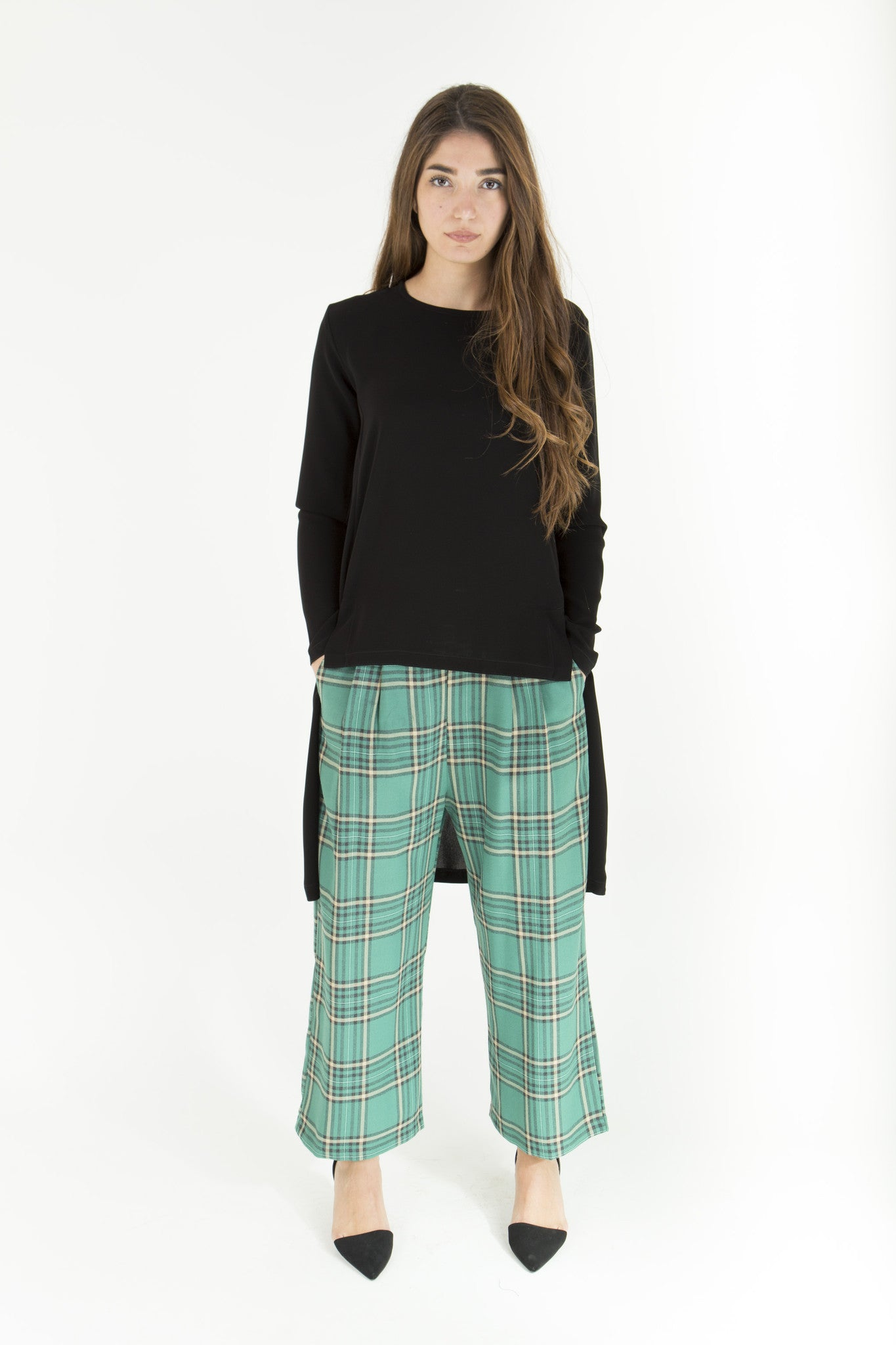 Green Culotte Pants