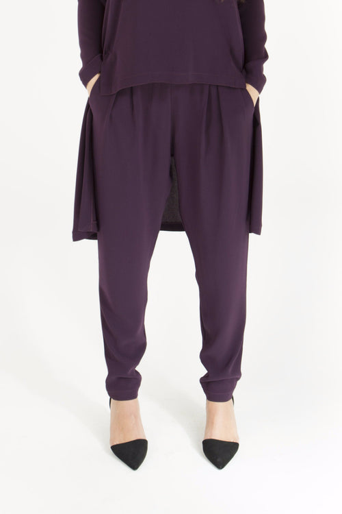 Aubergine Tapered Pants