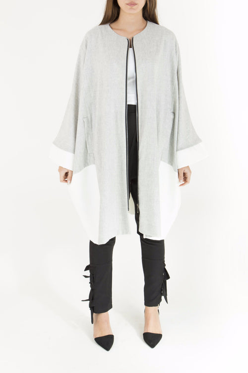 Colorblock Bisht Cape