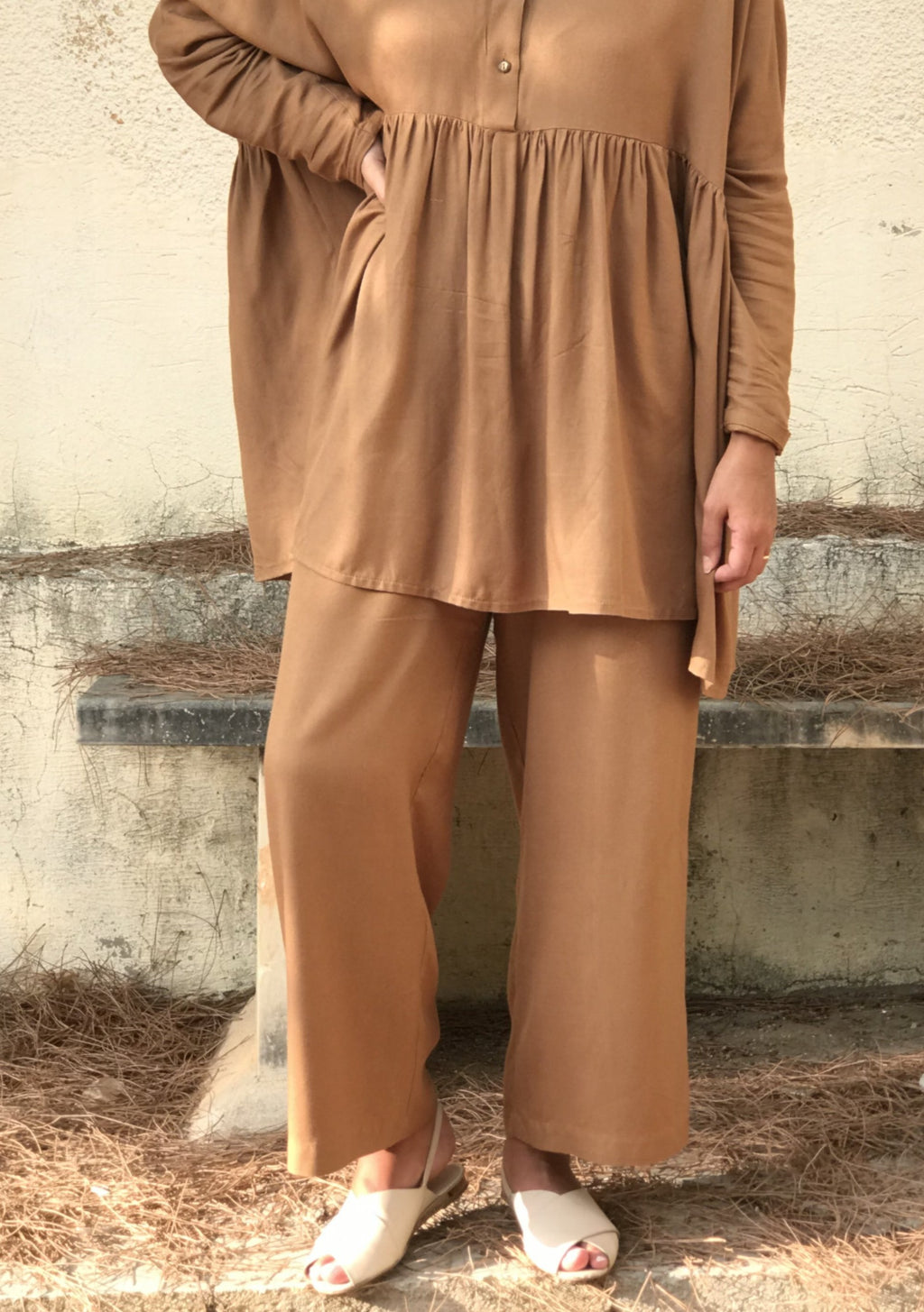 Tan Wide Pants