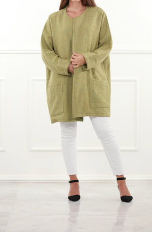 Oversized Green Coat