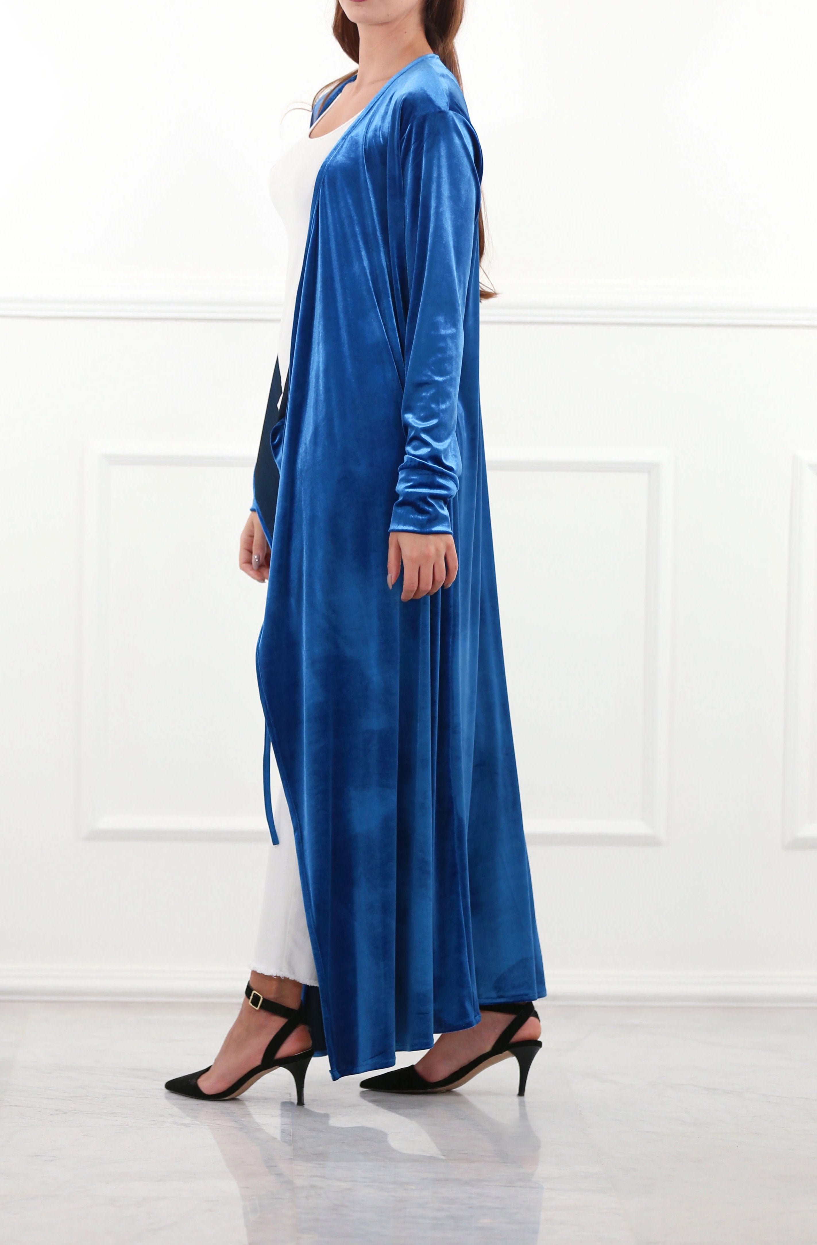 dded35e19cc Regal Blue Velour Robe Dress – RUSH   REEZ