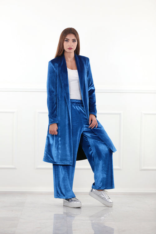 Regal Blue Velour Blazer