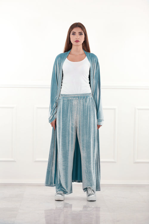 Pastel Blue Velour Pants