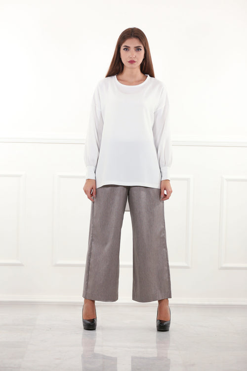 Metallic Culotte Pants