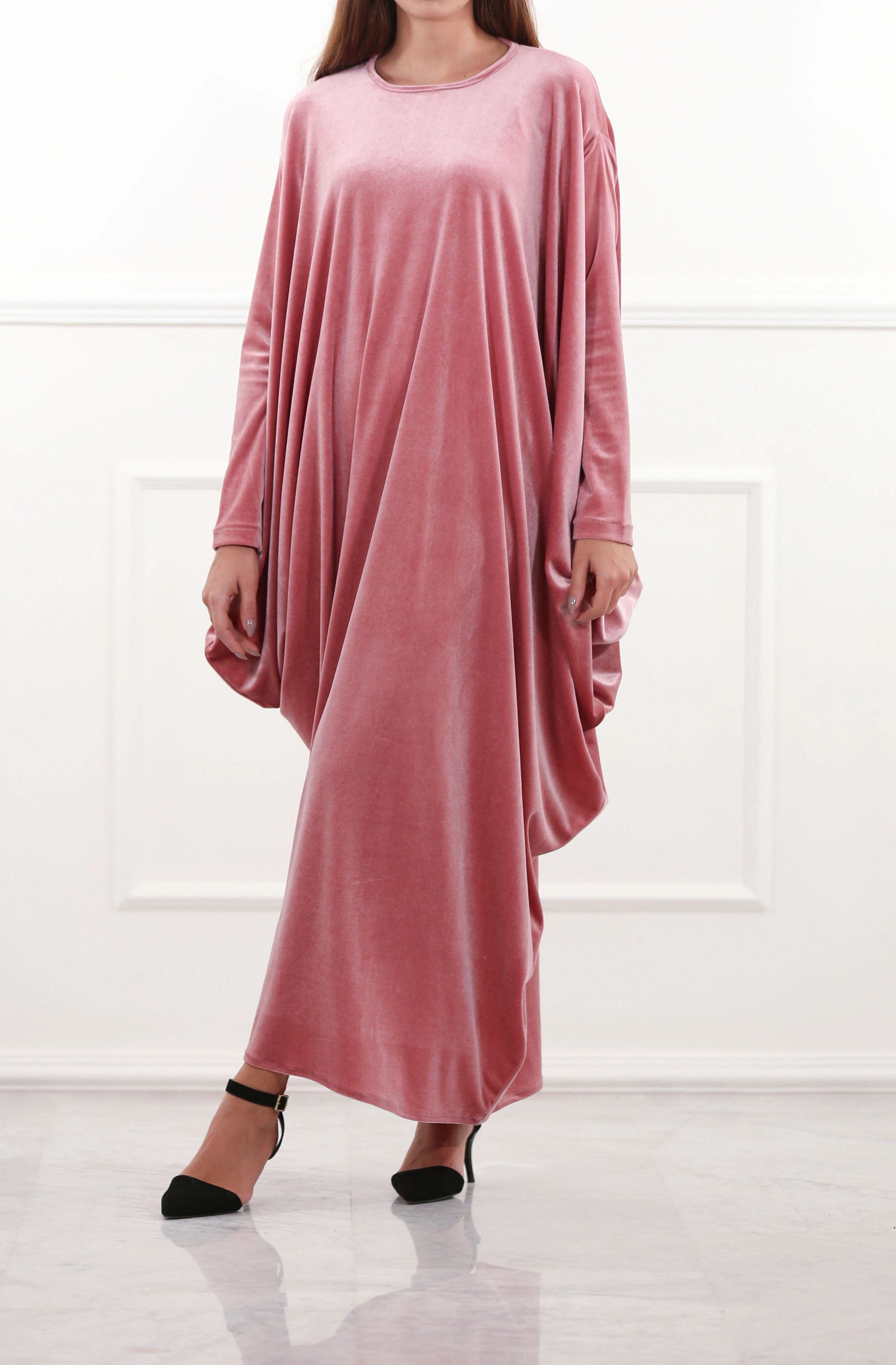 b650cbb72c5 Draped Velour Maxi Dress – RUSH   REEZ