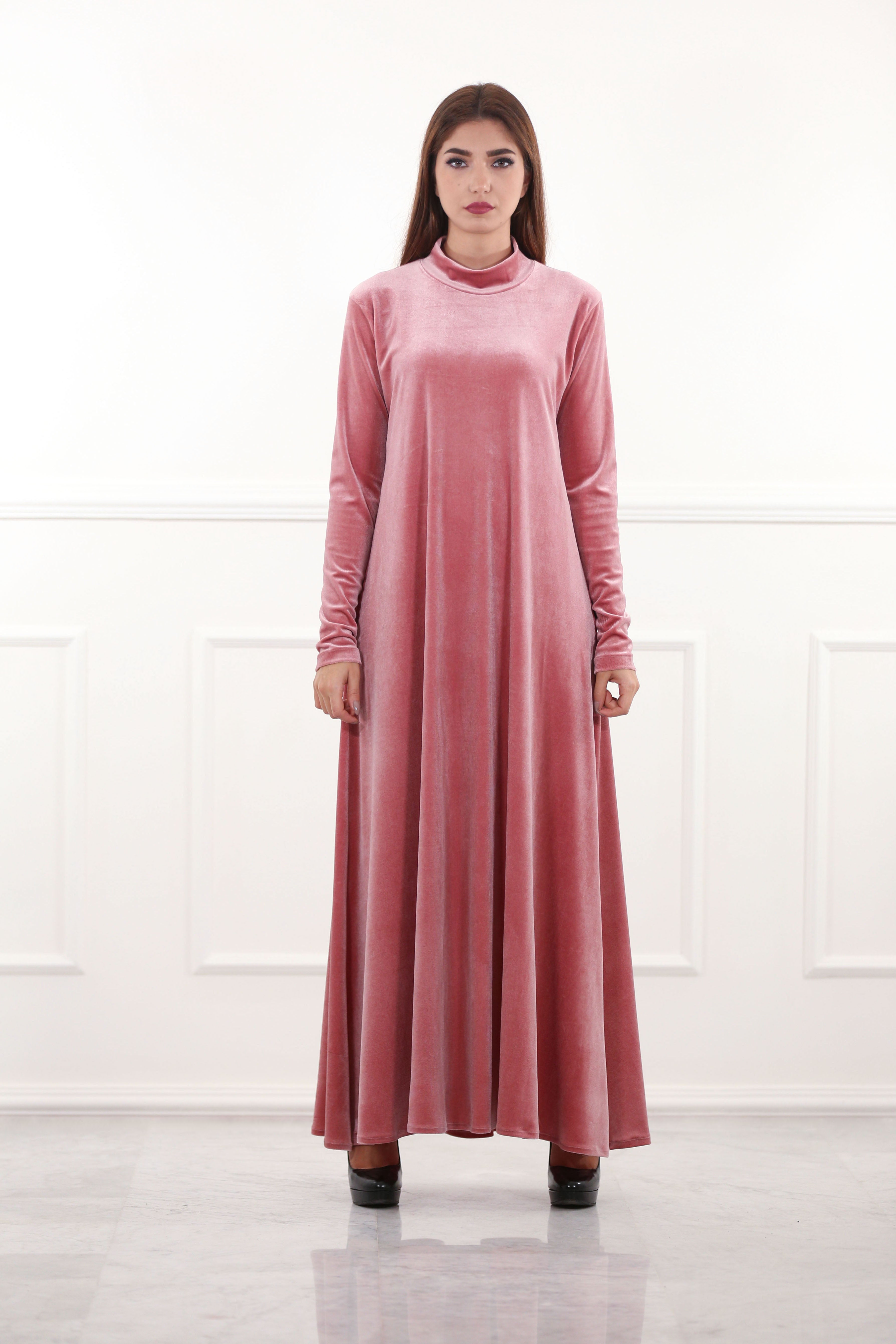 44abbe460a8 Velour Maxi Dress – RUSH   REEZ
