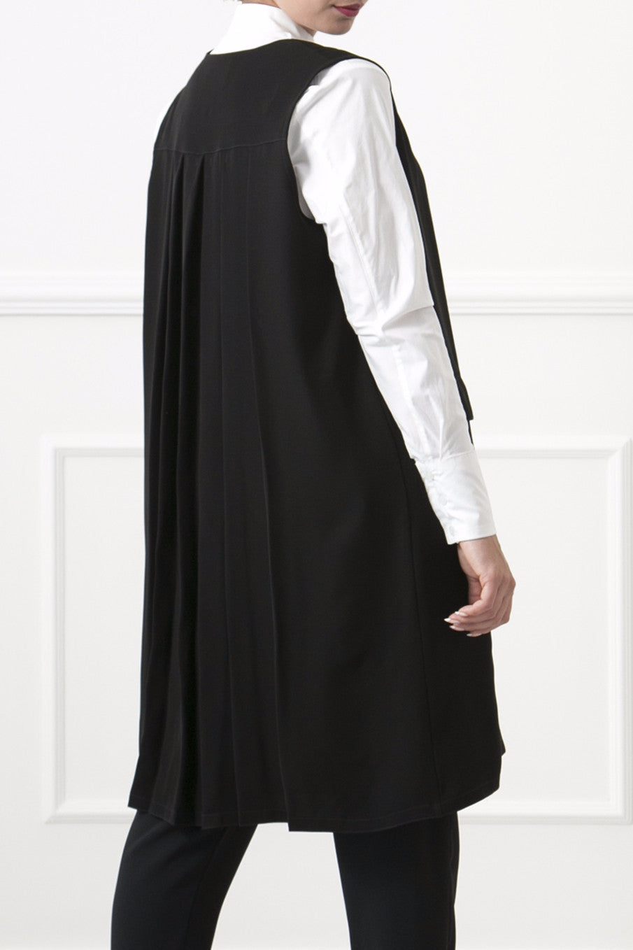 Black Pleated Vest