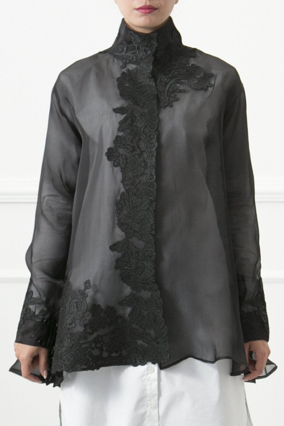 Silk Organza Cape Jacket