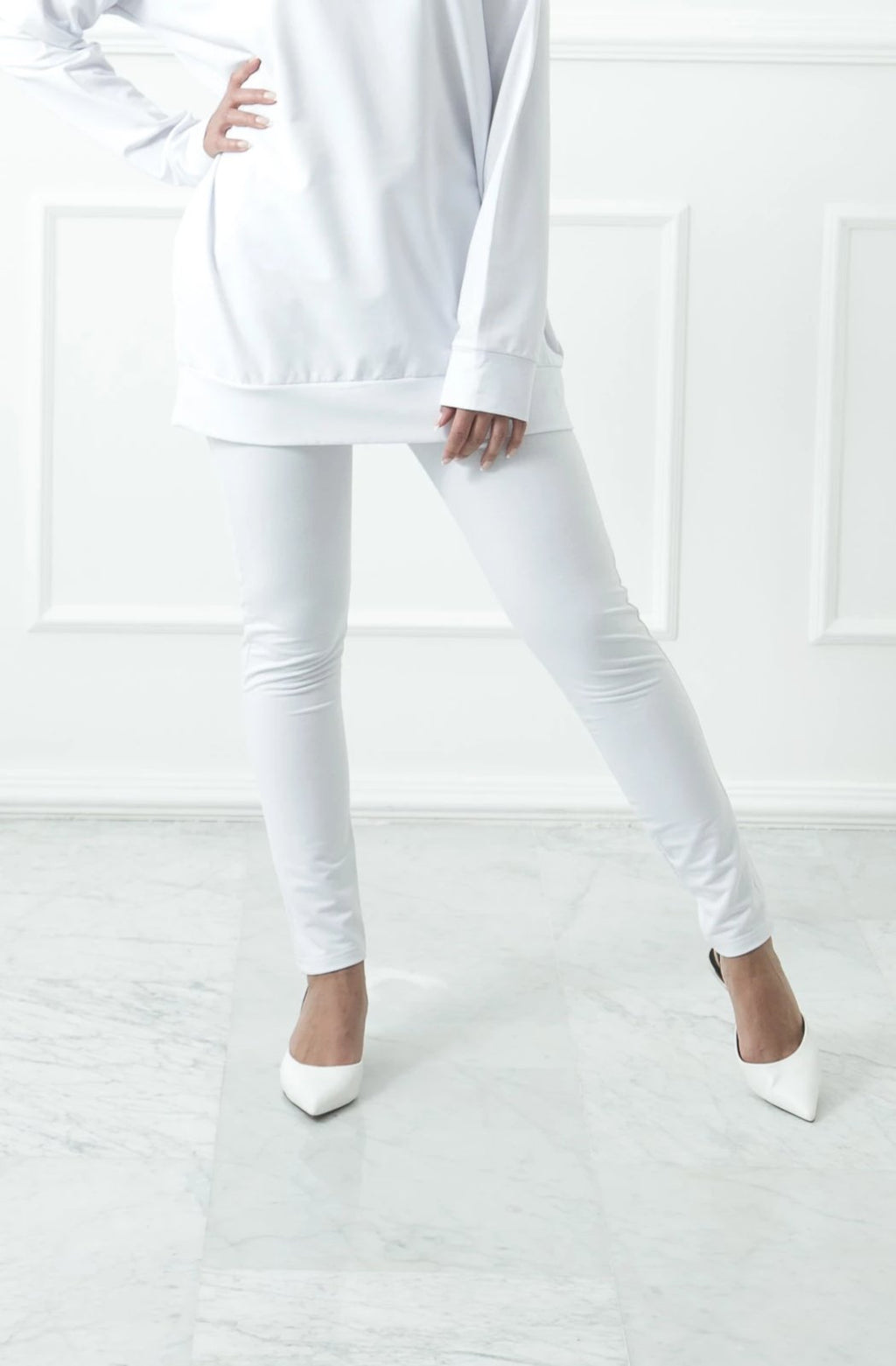 White Slim Sweatpants