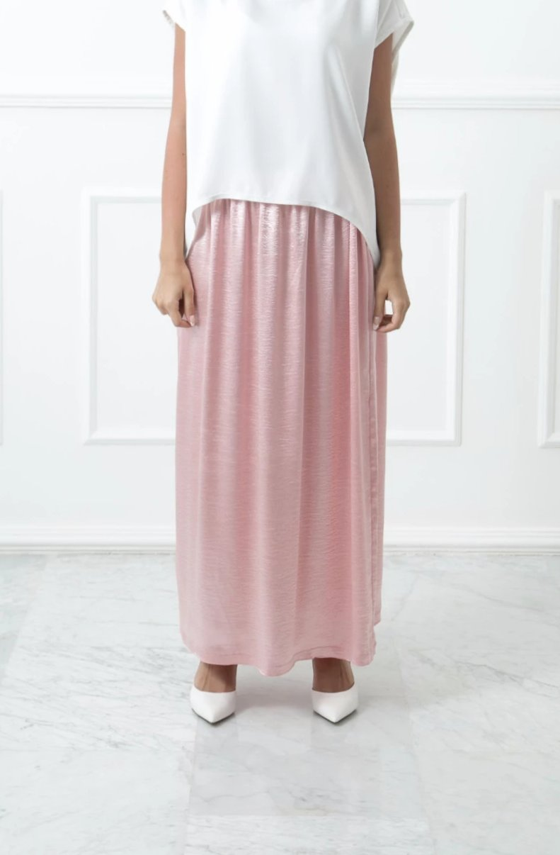 Metallic Pink Skirt